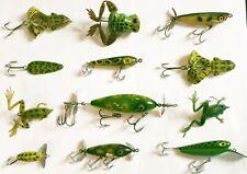 1 Dozen Vintage Frog Lures Froglegs Barracuda Hi Sport Rebel Gudebrod Burke