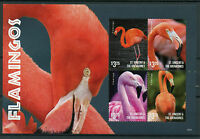 St Vincent & The Grenadines 2015 MNH Flamingos 4v M/S I Birds Flamingo