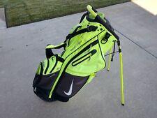 Nike Golf Air Hybrid Dual Strap Stand Bag w Raincover 14 Divider Yellow