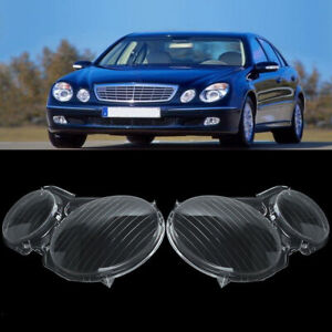 2x Headlight Lens Headlamp Cover For MERCEDES BENZ E CLASS W211 E320 E350 02-08