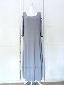 Marla Wynne Grey Cold Shoulder Balloon Hem Long Dress BNWT Medium