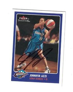 Jennifer Azzi UCONN Huskies Utah Starzz WNBA Basketball Signed Card W/Our COA