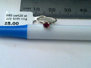 Sterling Silver July birthstone ring charm or pendant New RRP $25