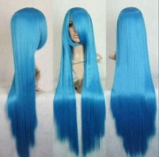 Lucky Star izumi konata Cosplay Long Blue Wig