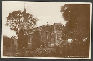 Postcard Burrough on the Hill nr Melton Mowbray the St Mary's Church RP
