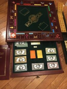 Franklin Mint Monopoly Collectors Edition Solid Wood Incomplete Excellent Cond.