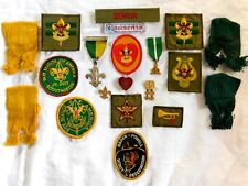 1960's - Early 1970's BOY SCOUT MEMORABILIA w/ PATCHES, BADGES, MEDALS, PINS,etc