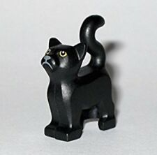 Minifig with Black Cat Ears Hair Flipped Ends Turquoise Short Bangs LEGO