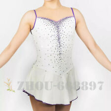 Custom Fashion figure Skating Dresses skating costumes For Adults or Girls White