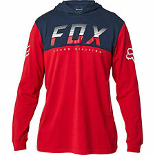 Fox Carreras Hombre End Of The Line Camiseta Manga Larga Capucha Chile Red /