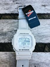 CASIO G-Shock G-LIDE digital watch, GLS-5600CL-7, white, nylon strap
