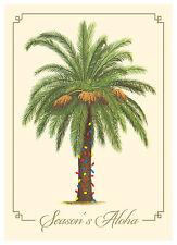 6 Hawaiian Holiday Cards - Hawaii Christmas - Palm Tree Christmas Lights Aloha