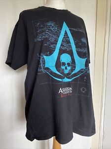 Official Assassin's Creed IV Black Flag XL Short Sleeve Cotton Gaming T-Shirt