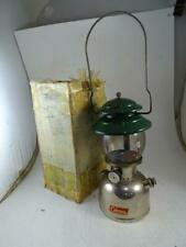 Vintage Green Enamel Chrome Model 202 Coleman Lantern Lamp Camping Retro Old