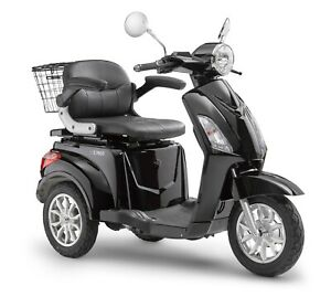 Elektroroller LuXXon E3800 - Elektro Dreirad für Senioren mit 800 Watt, schwarz