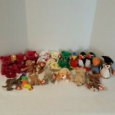 Lot of 20 Ty Beanie Babies Some Retired All With Tags Age 1993- 2004