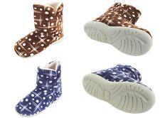 Damen Hüttenschuhe warme Hausschuhe Pantoffeln Feste Sohle blau braun Gr. 36-41