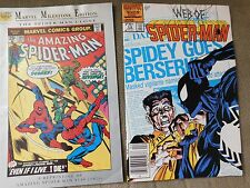 Spider Man Comics Lot 2 Spidey Goes Berserk 1986 and Spider Man #149 Reprint