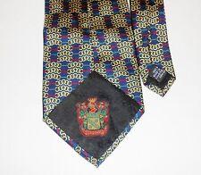 Men's Vintage Paolo Gucci Navy & Gold Silk Tie