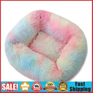 Pet Nest Rectangle Soft Plush Kennel Cat Dog Bed Warm House Puppy Cushion