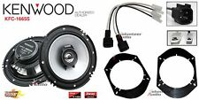 Kenwood KFC-1665S 6.5 Speakers +1 Pair Front / Rear Adapters + Harness For Ford