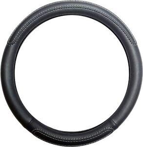 Black Steering Wheel Cover Soft Grip Leather Look for Skoda Fabia All Models