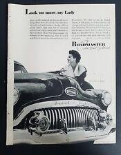 1951 custom built Buick EIght Roadmaster car vintage ad