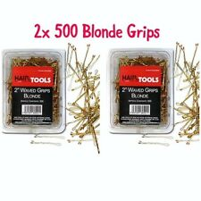 """HairTools 2"""" Blonde Waved Grips 500 per Box-Duo Pack x2 Boxes"""