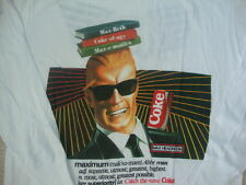 Vintage MAX HEADROOM Coke Coca Cola KZ 106 Radio 80's new wave punk T shirt L