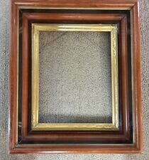 Antique EASTLAKE  Aesthetic Victorian Deep  Walnut Gold Etched Picture Frame