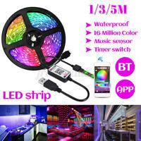 1/5M RGB LED Strip Lights 5050 5V USB For TV PC Backlight bluetooth APP Remote