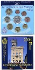 Set Oficial Euros San Marino 2004 + 5 € plata  Bartolomeo Borghesi