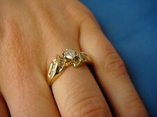 ! ELEGANT PEAR SHAPED AND BAGUETTE LADIES ENGAGEMENT RING, 3.9 GRAMS, SIZE 9.5
