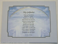 """MY GODFATHER"" Personalized Poem GIFT For Your GODFATHER ... The PERFECT Gift..."