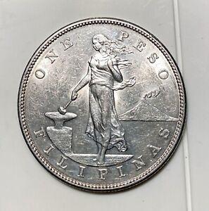 1903 U.S. Philippines ONE PESO Silver Coin - High Grade - U.S. Philippines