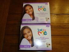 2 Just for Me No-Lye Conditioning Creme Relaxer Kit - REGULAR Fine or Medium