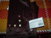 """SET OF 4  NAPKINS-- EMBROIDERED DOTS --18"""" SQUARE--#Y47-B13"""