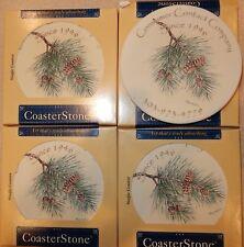 4 New Coasters Coster Stone Coasterstone Hindostone W Advertising Pinecones