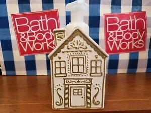 Bath & Body Works Ceramic Hand Soap Holder Dispenser Gingerbread House Christmas