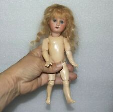 """ANTIQUE BISQUE SOCKET HEAD Jointed Composition Body 8"""" HEUBACH KOPPELSDORF DOLL"""
