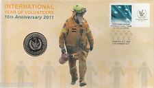 2011 UNC 20c  International Year of Volunteers X 10 PNC