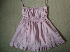 JACK WILLS STRAPLESS SUMMER TOP UK 10 US 6 PINK WHITE STRIPES STRIPED