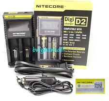 NEW 2016 NITECORE D2 Digi charger For AA 18650 14500 18350 10400 w/car charger