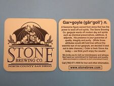Hip 1996 Beer COASTER <> STONE Brewing Co, San Diego County ~*~ Spotted Gargoyle