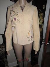 DANIER S Light Brown Genuine Leather Long Sleeve Casual Slim Unique Women Jacket