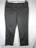 Limited Size 10 Charcoal Gray Stretch Slim Leg Crop Capri Dress Pants PERFECT