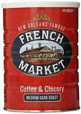 French Market Coffee & Chicory Medium-Dark Roast, Creole Roast, 12oz (24 Pack)