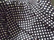 BLACK & WHITE POLKA DOT PAISLEY FABRIC, 112cm WIDE,SOLD PER METRE,NEW, AUSTRALIA