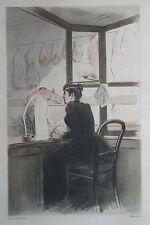 Eau-forte aquarelle pochoir La Femme à Paris Pierre Vidal Fred. Massé Uzanne 12