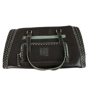 Matt & Nat Via Vegan Handbag Satchel Purse Womens Straps Dark Brown Faux Leather